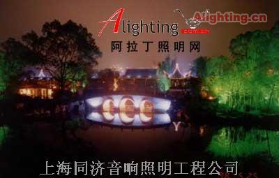 浙江省临海市东湖风景区夜景照明工程