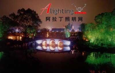 绍兴东湖风景区夜景
