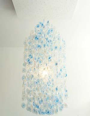 矿泉水瓶子手工制作吊灯图片