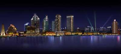 亮化效果图 上海北外滩多维照明规划设计