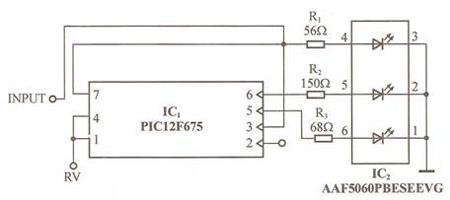 led监测模拟电压电平电路