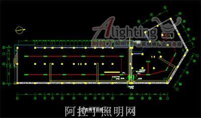 六层住宅办公楼照明设计图cad加载dvb图片