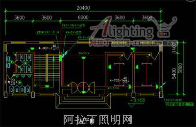 管理站房照明电气施工图