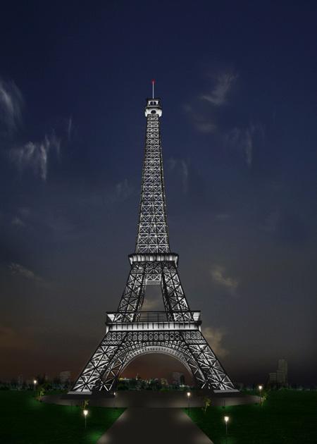 巴黎埃菲尔铁塔美甲