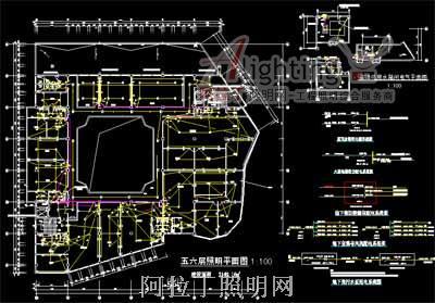 张家口六层商场电气照明设计图