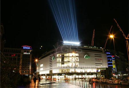 某商场灯光效果