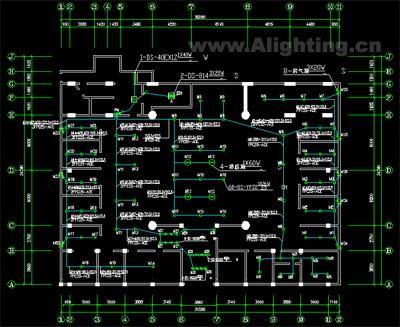 网吧电气照明设计与应急照明设计图