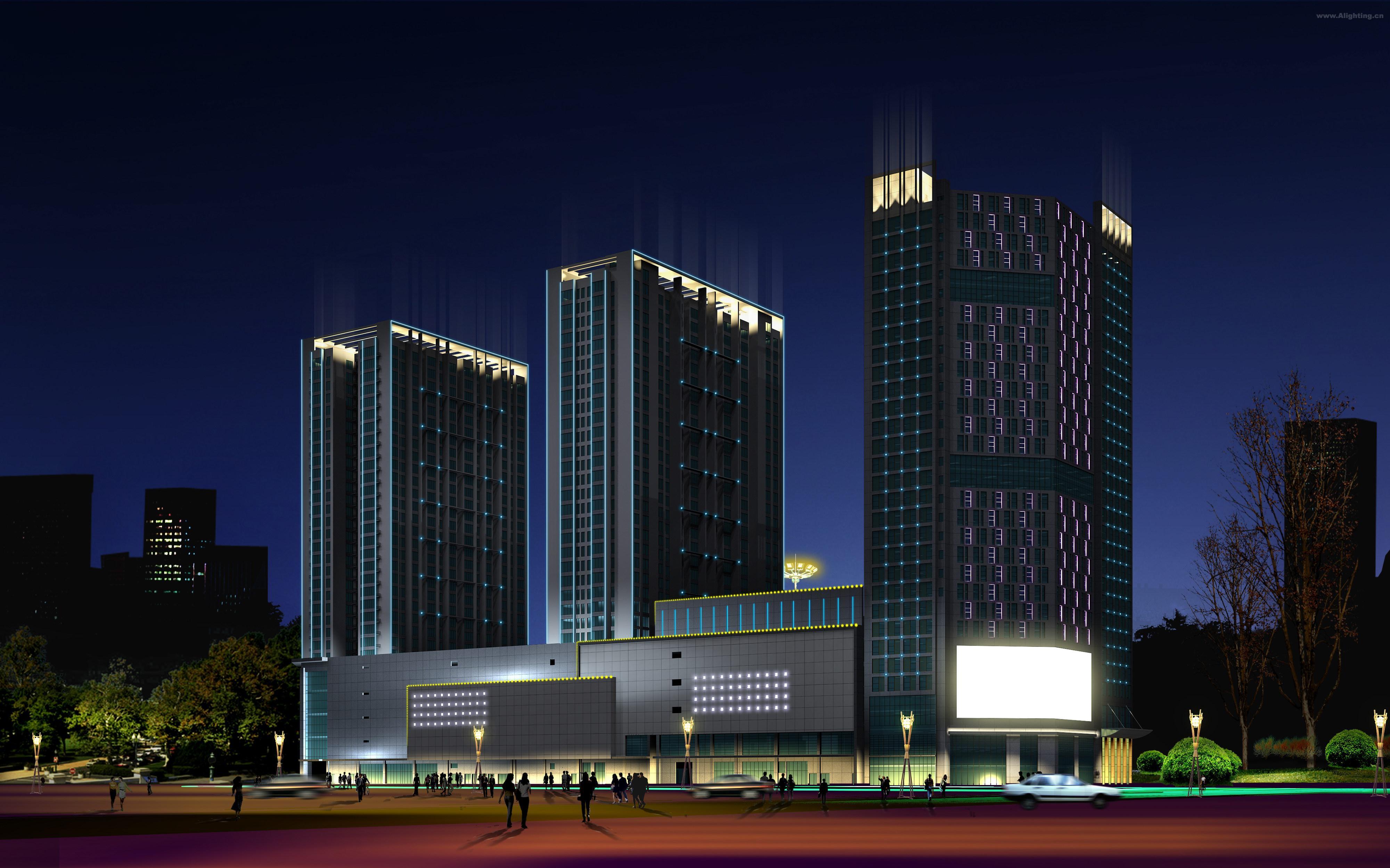 新华城市广场夜景照明规划设计