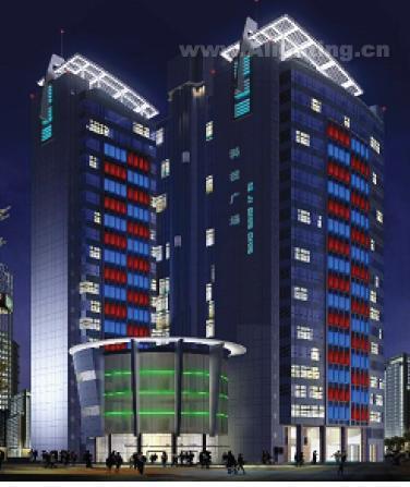 建筑物室外玻璃幕墙照明设计手法