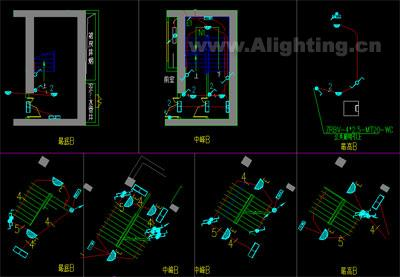 楼梯照明灯具布置设计图