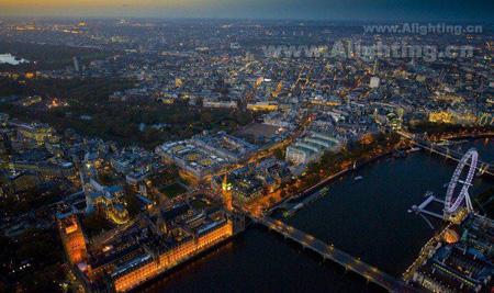 伦敦夜景灯光 造就繁华都市夜