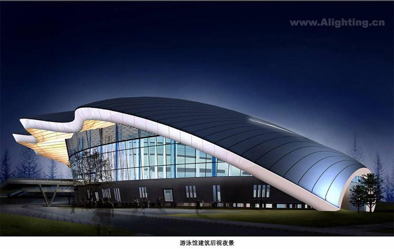 游泳馆建筑夜景设计说明燕艺允图片