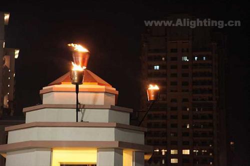 多哈市珍珠岛夜景 不一样的灯光