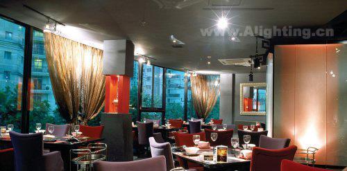 豪华欧式餐厅装修效果图-重庆室内设计培训; 国际风格餐厅中式风格