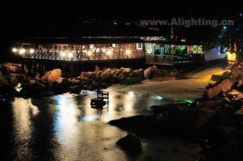 马来西亚热浪岛夜景灯光欣赏