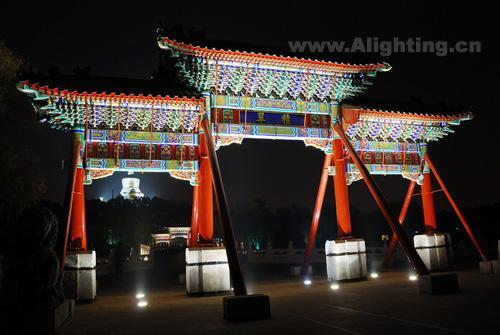北京北海公园夜景灯光设计欣赏