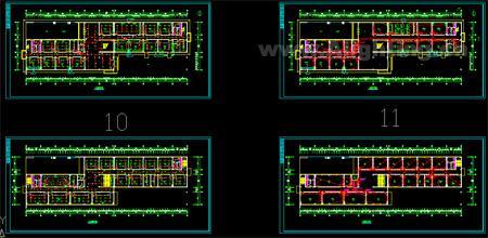 实验室电气照明图,其中包括照明平面图与电气布线图