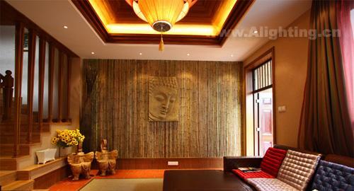 新泰式风格室内照明设计案例图片