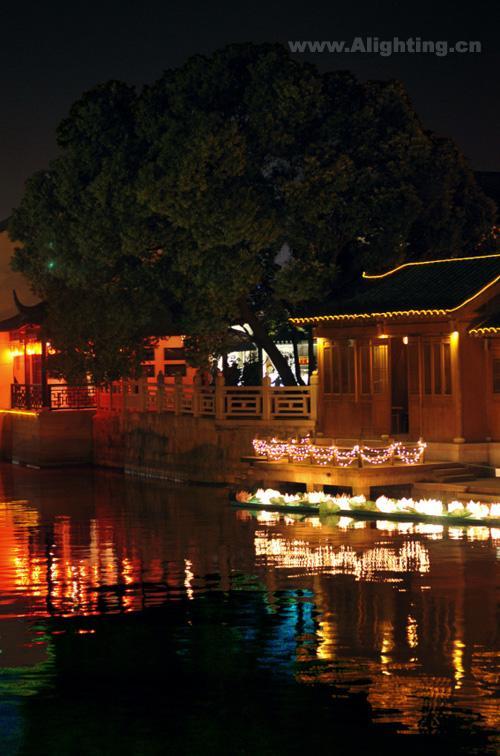 天津盘山风景名胜区; 江苏苏州枫桥景区夜景灯光欣赏