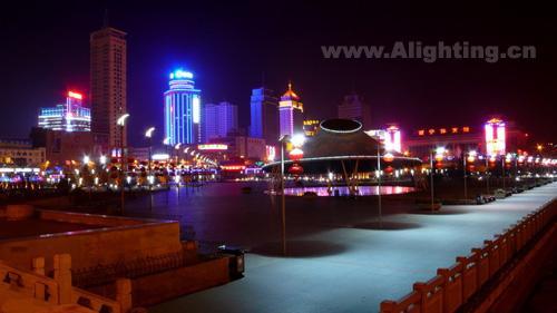 青海西宁市城市夜景灯光欣赏