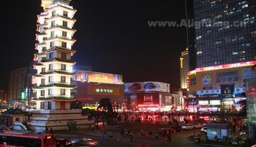 郑州二七纪念塔周边夜景灯光设计(组图)