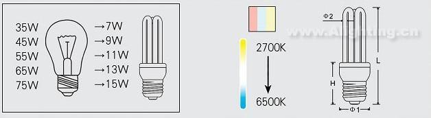 3u节能灯