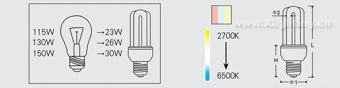 4u系列节能灯t4-efu02