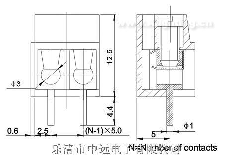 螺钉式接线端子台zy300