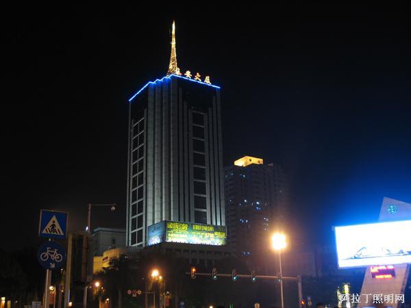 泰安大厦夜景亮化工程