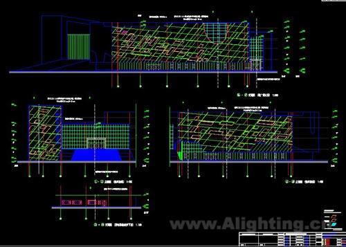 大庆城市规划展示馆立面照明电气图