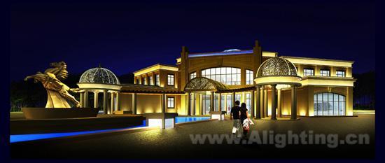 秦皇岛俱乐部建筑泛光照明设计案例(图)