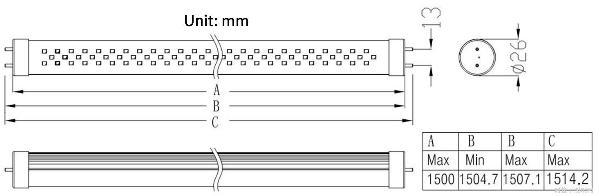 盛丽1.5米led日光灯系列