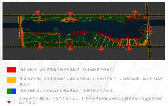 红莲湖夜景景观艺术照明设计整体规划(图)