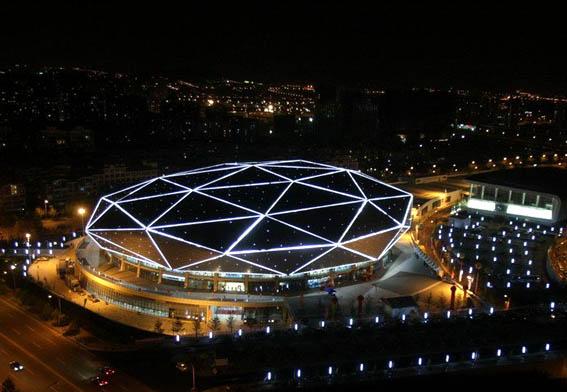 青岛体育中心夜景照明设计-5a国际照明设计事务所