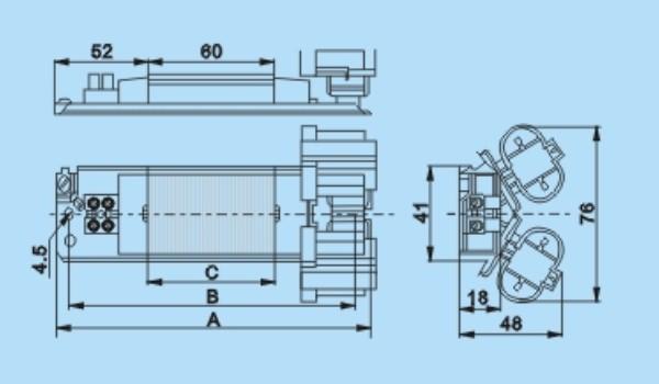 LF-313T系列: 灯泡功率:25 26 27 29(W),类型:电感镇流器,工作电流:0.145-0.180(A),灯泡电压:220/240(V)。 为确保产品质量, 矽钢片由高速冲床机加工而成,骨架和接线端子采用增强尼龙66材料.另外还使用了自动烘箱和电脑印刷.在我们优秀的工程师和员工的共同努力下,借助先进的生产设备。 我们的产品通过了ROHS, TUV, EEI=B2, VDE, CE 等各种认证。   能为世界各国的朋友提供一流的产品和服务是我们的荣幸。我们会以高质量的产品回报客户对我们的信赖