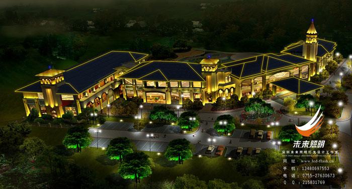 鄭州龍湖國瑞城夜景景觀照明設計-深圳新未來照明