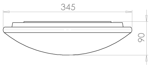 led圆形吸顶灯结构尺寸图