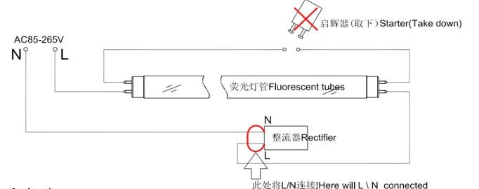接线方式正确,严禁带电操作; ——产品应用 led日光灯广泛用于家居