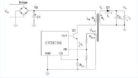 近日正式发布原边反馈开关电源电路,支持驱动低成功率三极管器件.