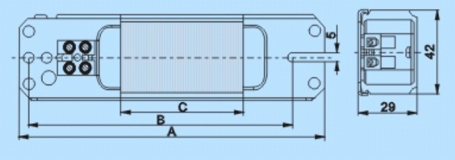 供应荧光灯电感镇流器lf-800-4