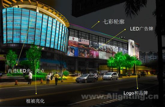 a.百货商城大门入口总图设计意向