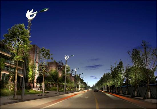 遂宁:一城三路道路照明设计