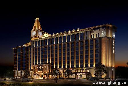 青岛三利莫丽斯酒店及公寓楼建筑外观灯光设计