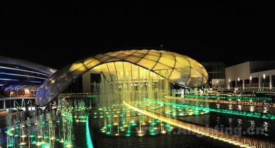 水景雕塑的照明