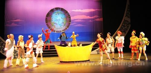 《渔童》舞台剧 灯光营造梦幻童话