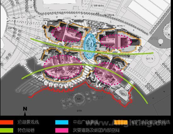 月光码头欧式商业街夜景照明 - 照明设计,景观设计