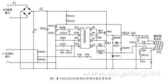 荧光灯交流电子镇流器驱动led的解决方案
