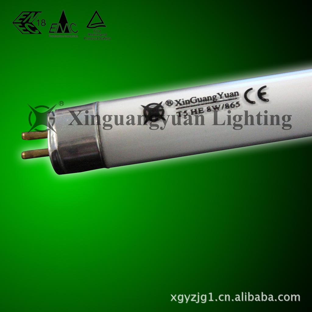 新光源 厂家直销T5直型荧光灯管 T5-4w-2700K三基色荧光灯管 T5荧光灯管