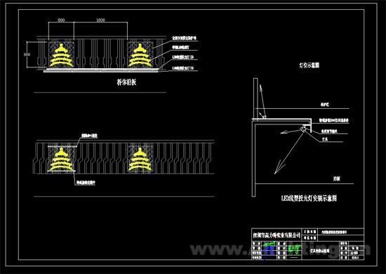 中照照明奖:光明桥景观照明项目设计图纸