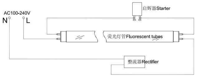 【2】led灯管接线方式
